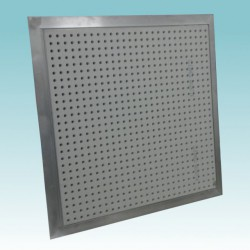 access panel with perforated board